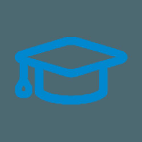 Educated graduation cap