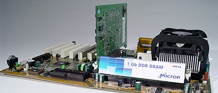 2002 年:美光展示業界首款 110nm 製程的 1-Gigabit DDR
