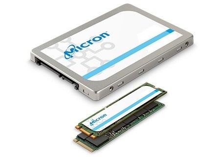 美光 SSD 產品組合照片