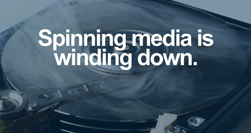 Spinning media is winding down
