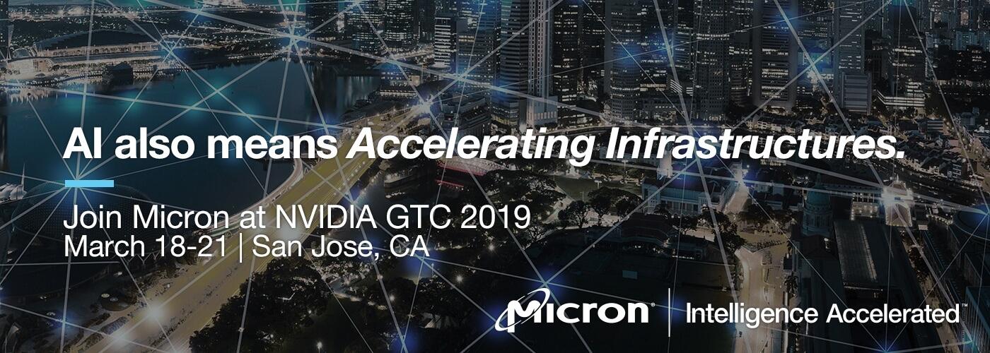 Micron at NVIDIA GTC Banner Image