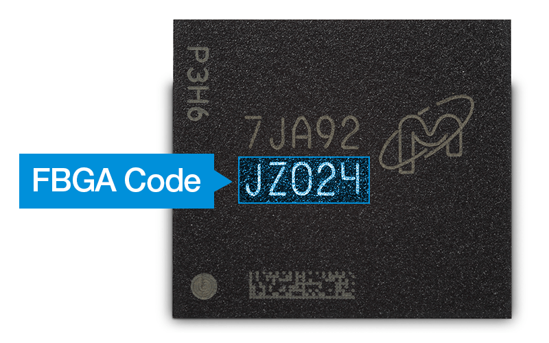 Micron part FBGA code